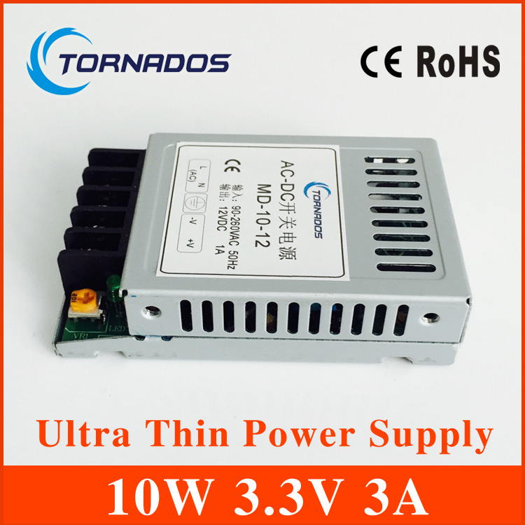 LED power transformer slim small 3.3v power supply,ac 85-264v switching to dc 3.3v 10w power supply meanwell 12v 75w ul certificated nes series switching power supply 85 264v ac to 12v dc