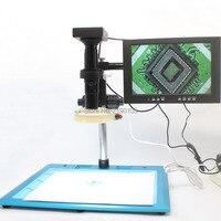 HDMI VGA Dual Output Industrial Microscope Measurement Camera300 400mm Precision Trim Base 200X Fine Tuning Lens