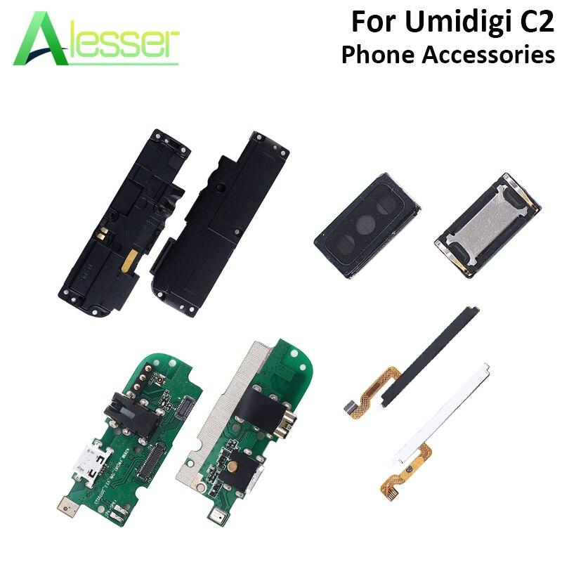Alesser Para UMI Umidigi C2 USB Placa de Carga Plugue Cabo Volume De Energia Peças de Reparo Alto Falante do Fone de ouvido Para UMI Umidigi c2 Telefone
