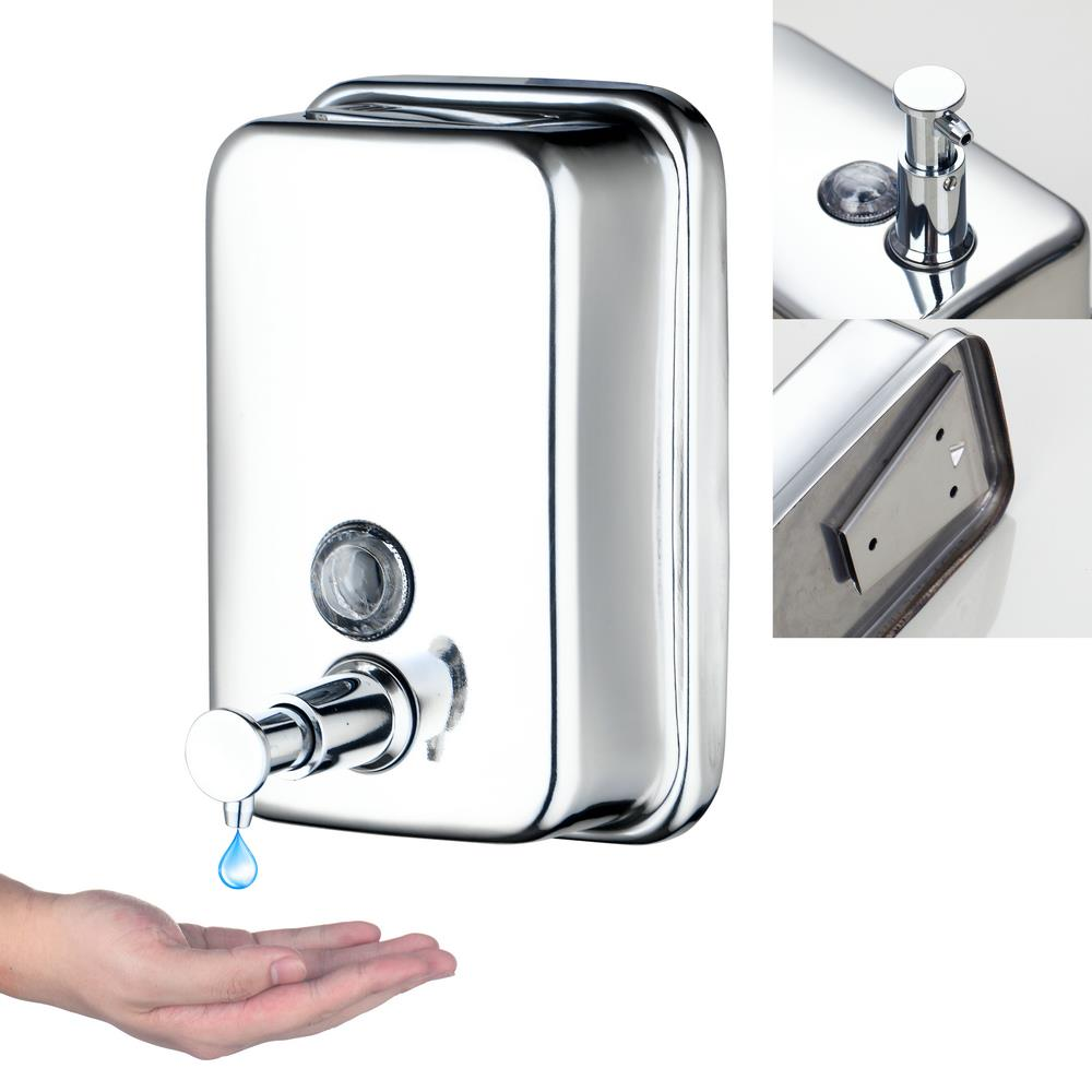 E Pak Yanksmart 5729/2 Popular Style Home Washroom Wall Mount Soap  Sanitizer Bathroom