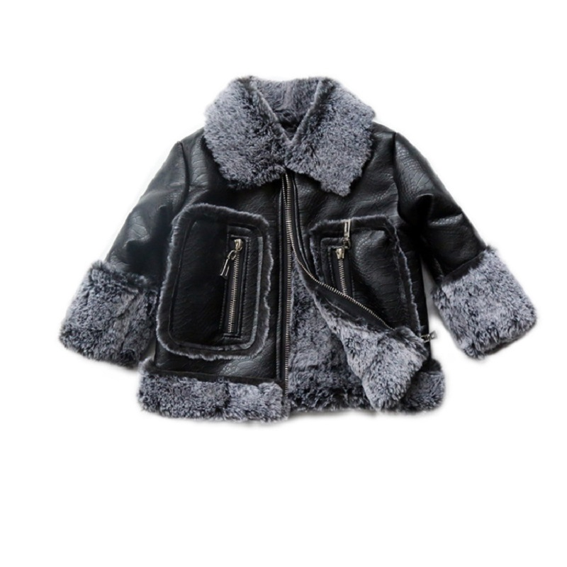 JKP 2018 new tide Children's Fur Jacket Thicker Outerwear with Velvet Jacket for Boys and Girls fashion Cotton coats FPC-40 plus size women cotton clothing 2017new irregular coats jacket thicker casaco feminino fashion top outerwear abrigos mujer 1044
