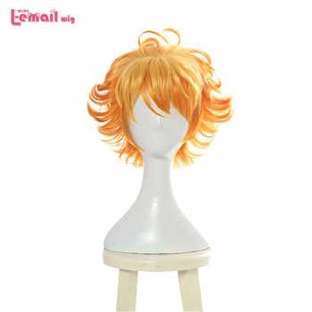 L-email wig New Yakusoku no Neverland 63194 Emma Cosplay Wigs 30cm Short Heat Resistant Synthetic Hair Perucas Cosplay Wig - DISCOUNT ITEM  40% OFF All Category
