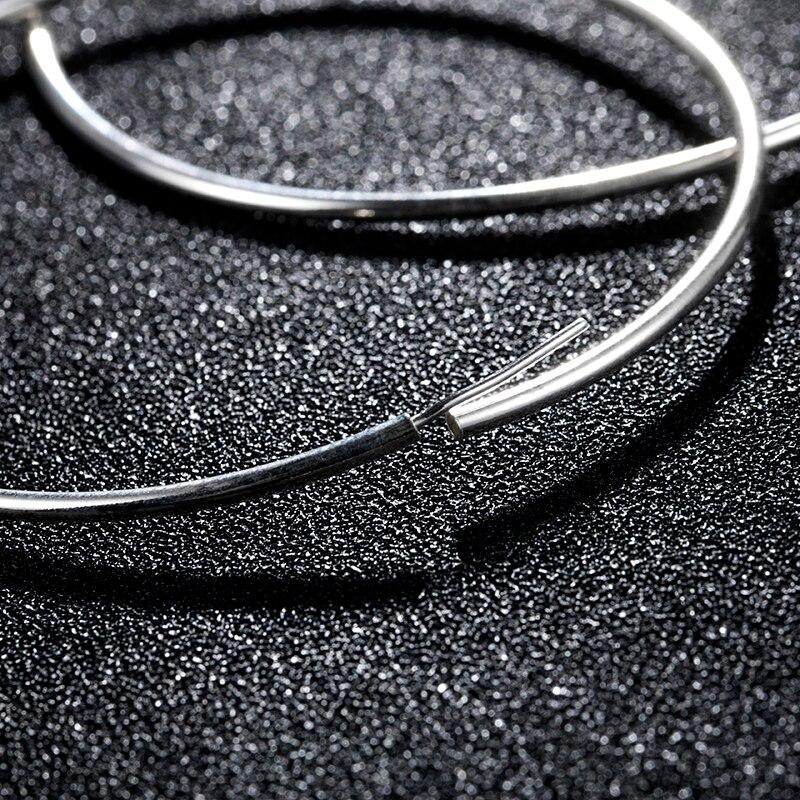 LARGERLOF Real 925 Silver Earrings Fine Jewelry Fashion jewelry Hoop Earrings For Women EH0226
