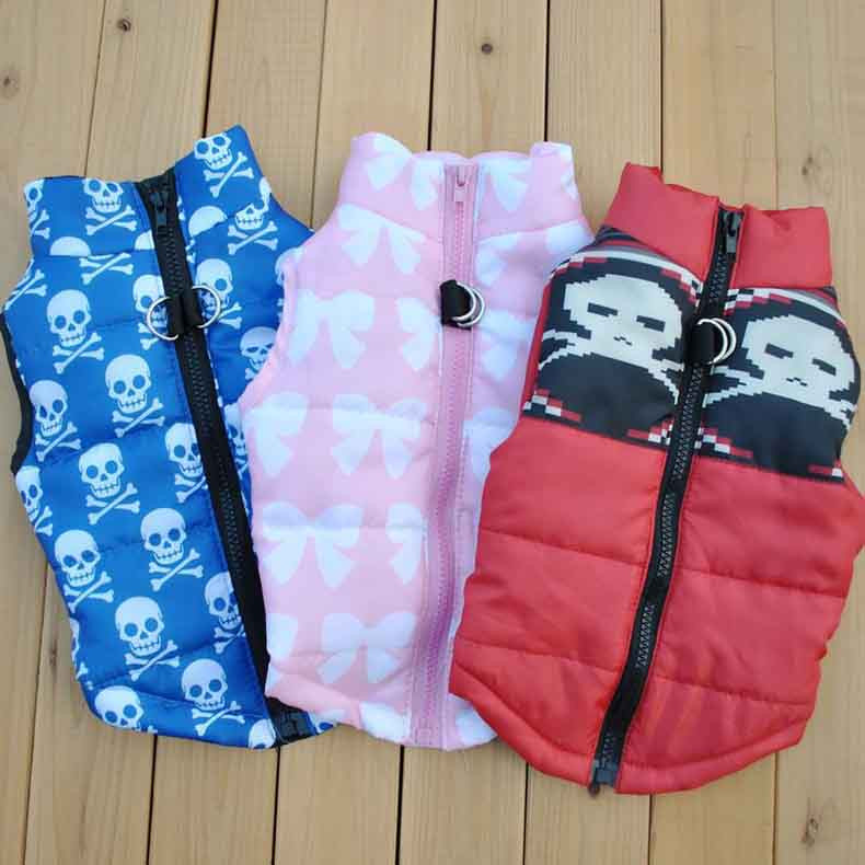 Popular Color Blocking Pet Apparel Dog Clothes Winter Puppy Dogs Vest Cotton-padded Jacket Coat for Chihuahua Teddy Poodle13