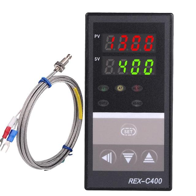 Dual Digital PID Temperature Controller REX C400 with Sensor K ...
