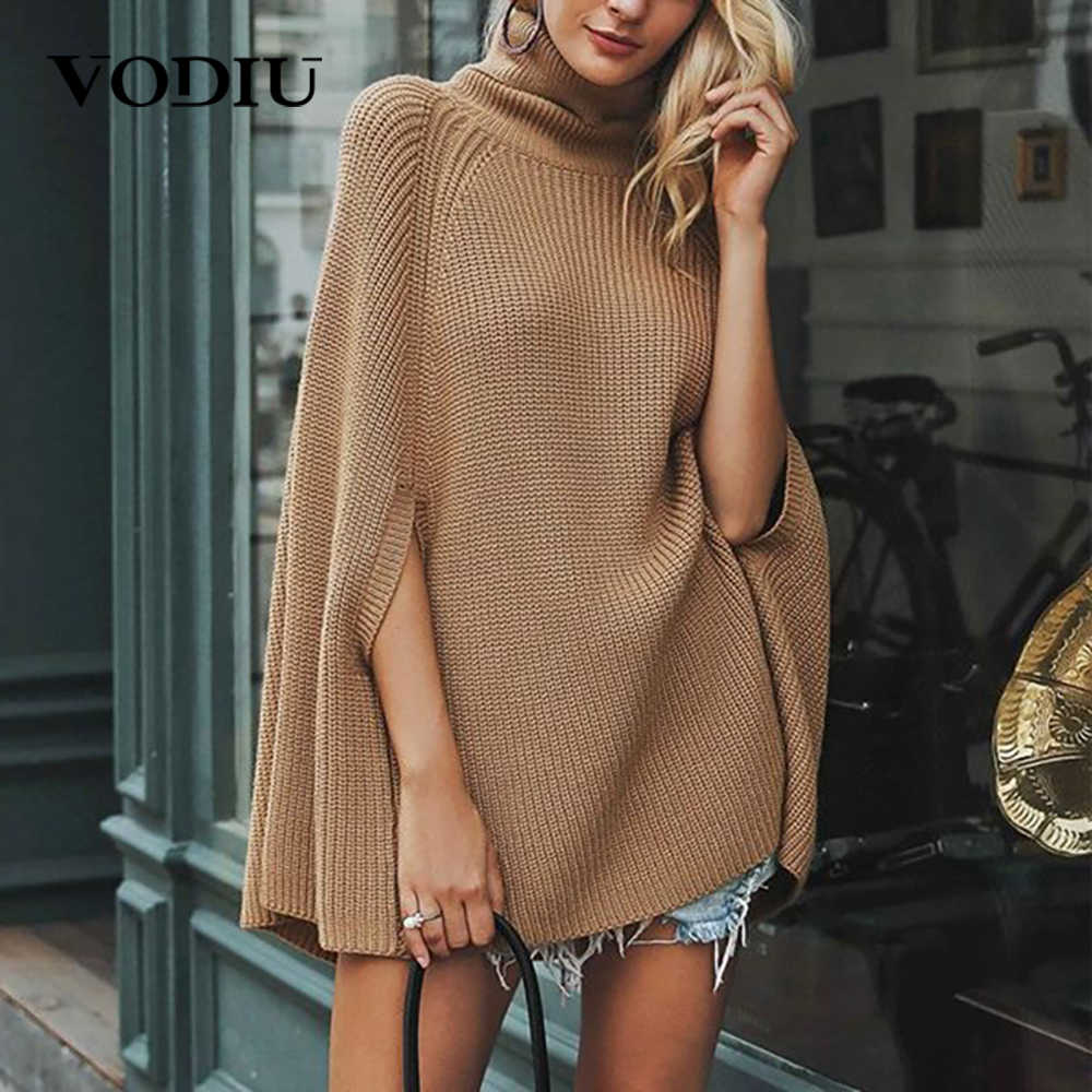 Knitting Turtleneck Sweater Women Autumn Pullover Batwing Sleeve Sweater Winter 2019 Casual New Fashion Pullover Sweater Femme
