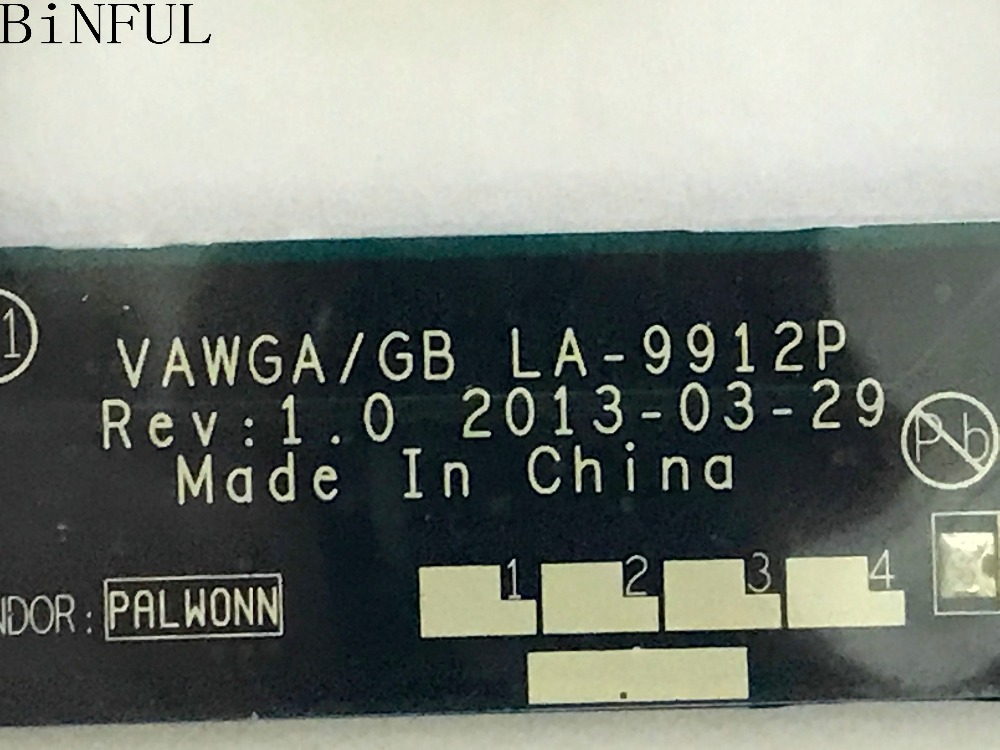 BiNFUL SUPER !! VAWGA/GB LA-9912P LAPTOP MOTHERBOARD SUITABLE FOR LENOVO G505 NOTEBOOK PC WITH E1-2100 CPU sheli for lenovo s415 motherboard with e1 2100 cpu 90003853 la a331p