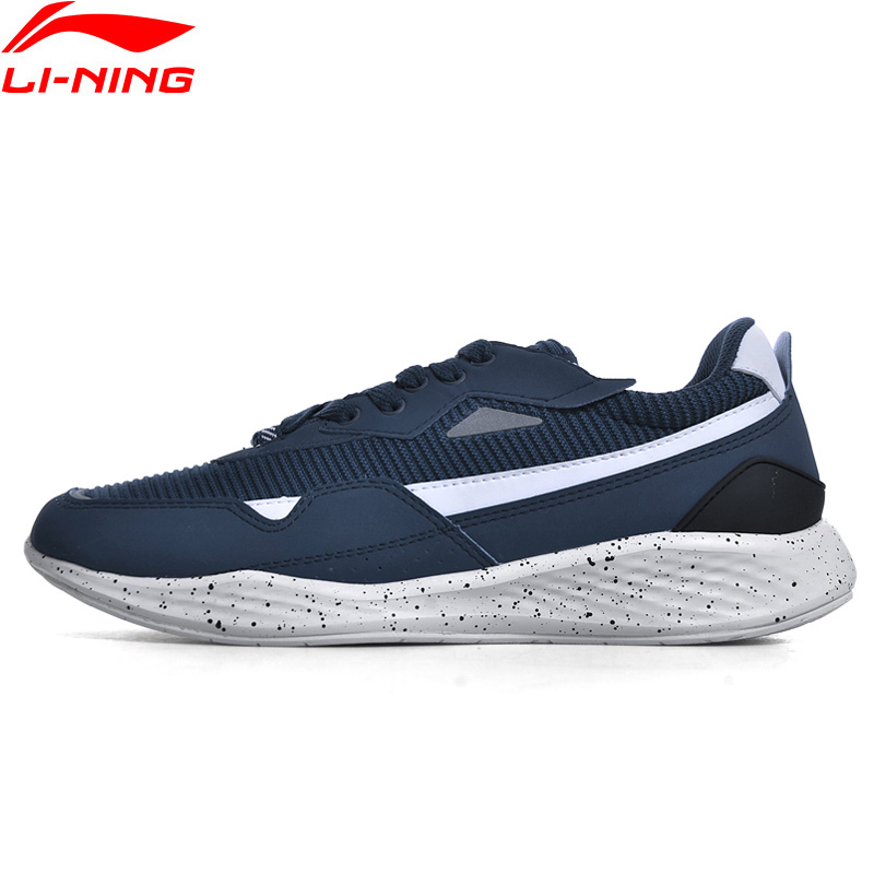 Li Ning Men Sports Life Lifestyle Shoes Wearable Jogging Sneakers Breathable LiNing Comfort Sport Shoes GLKN017