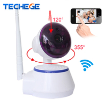 Techege IP Camera WiFi Wireless Security Camera 720P HD Mini Cctv Camera Pan Tilt Support Alarm