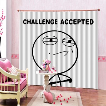 3D Curtains facial expression Curtains For Living Room Bedroom Stereoscopic Home Decor Curtains