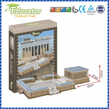 World Famous Architecture 3D Puzzle Buliding model Anitkabir (Turcia) Joc DIY
