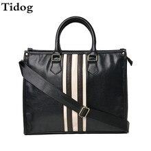 Tidog Britischen business handtaschen retro herren taschen freizeit schulter aktentasche