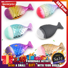 1pc Professional Mini Mermaid Brushes Black Small Fish Pincels Maquiagem Contour Makeup Brush Blusher Pincel Sereia