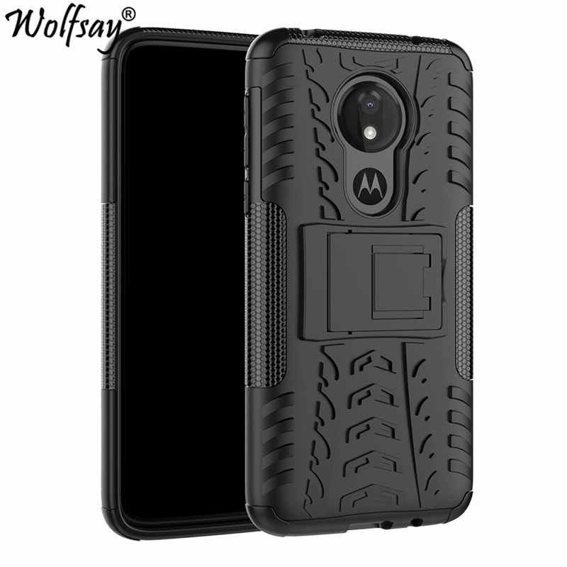 Wolfsay Case For Moto G7 Power Cover Soft Rubber & Hard PC Case For Motorola Moto G7 Power Case Phone Holder Business Fundas