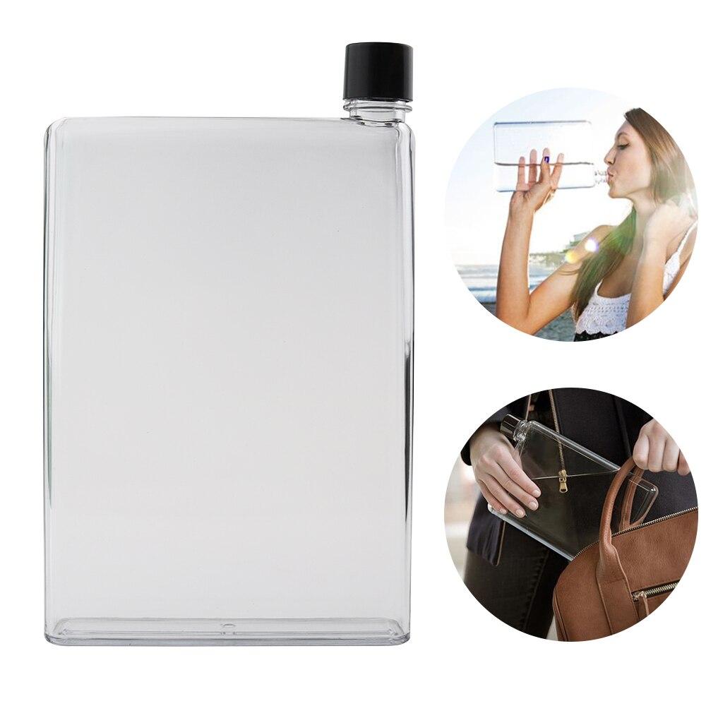 Botella de agua de cristal de 420 ml/750 ml botella de agua plana de jugo deportivo + botellas taza de vidrio tetera taza portátil botella de agua