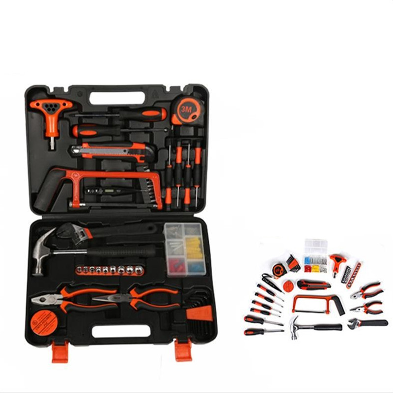 Household Hand Toolbox Screwdriver Wrench Hardware Tool Set Electrician Woodworking Maintenance Tool Set household