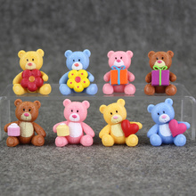 Great 8pcs lot lovely care bear pvc figure font b toy b font 4cm