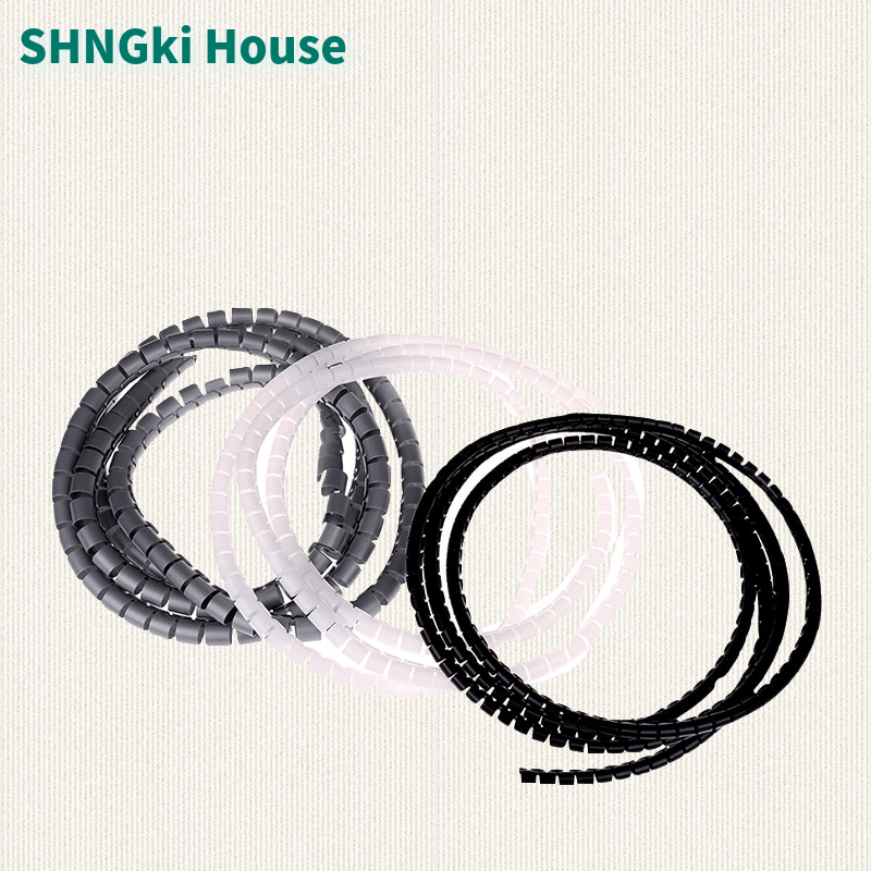 1m spiral wrap sleeving band tube cable protector line wire management wrap for pc computer home