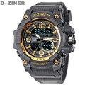 D-ZINER Известный Лучший Бренд Класса Люкс LED Цифровые Часы Мужчины Спортивные Наручные Часы Военные Электронные Цифровые Часы Relogio Masculino