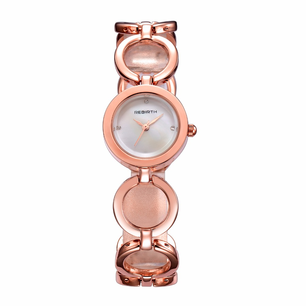 Rebirth New Fashion Casual quartz Circle women Luxury wristwatches Business Hook Buckle Gift to marry Accessories ladies dress