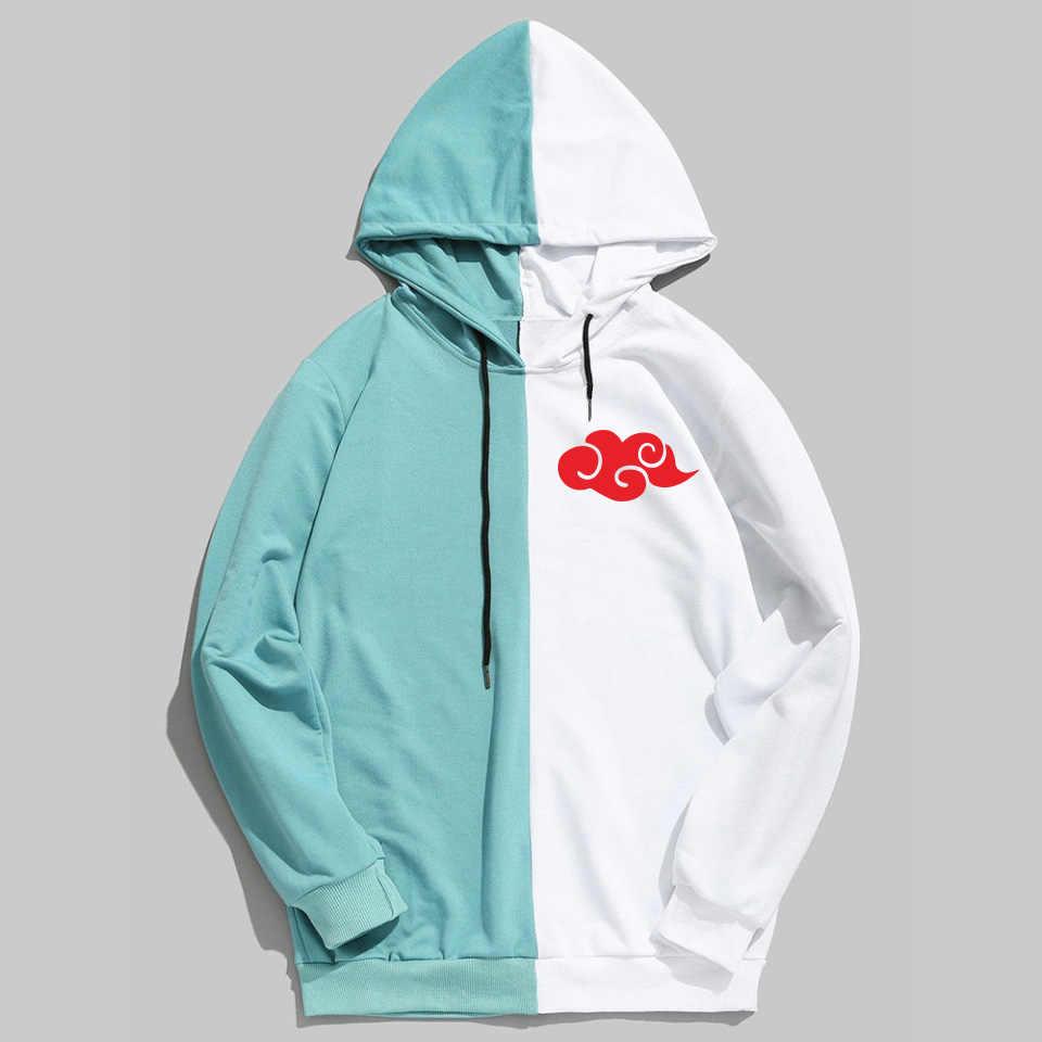VAGROVSY anime naruto projekt mężczyźni kobiety bluzy Akatsuki chmura odznaka Streetwear bluza Patchwork Harajuku Uchiha Itachi
