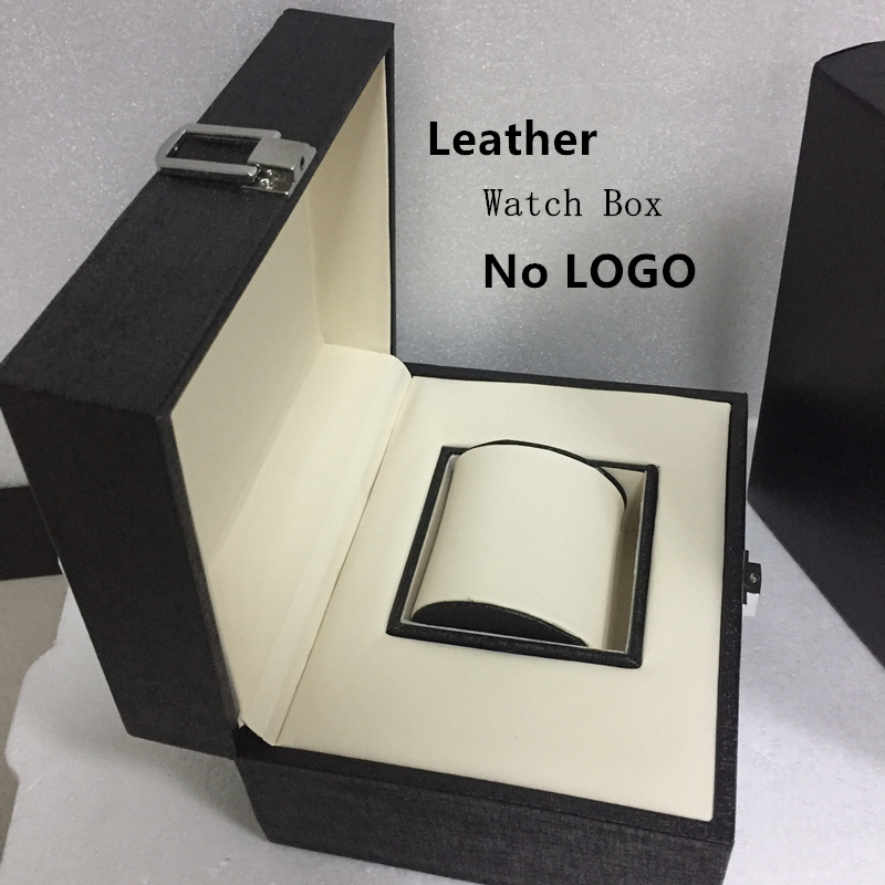 Top Quanlity Leather Watch Box Fashion Black Brand Watch Gift Box Hot Sale Watch Storage Boxes Can Customize LOGO P025  black out watch box