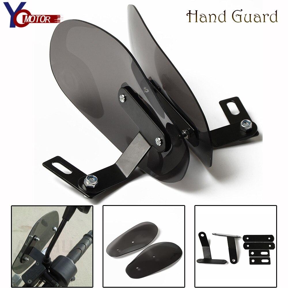Garde-mains de moto universel pare-vent poignée garde-main accessoires de motocross pour YAMAHA XJR400/1300 V-MAX1700 MT01 DUCATI