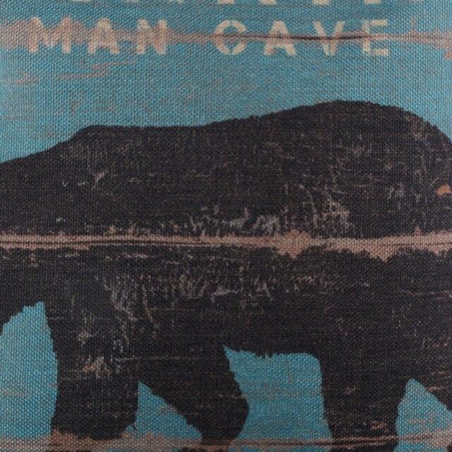 Man Cave Bear Cushion Cover 4