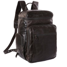 Vintage genuine real leather men backpack Casual Backpack Travel Bag Weekender Rucksack Bag