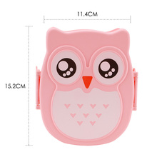 Cute Cartoon Owl Lunch Box Food Container With Compartments Case