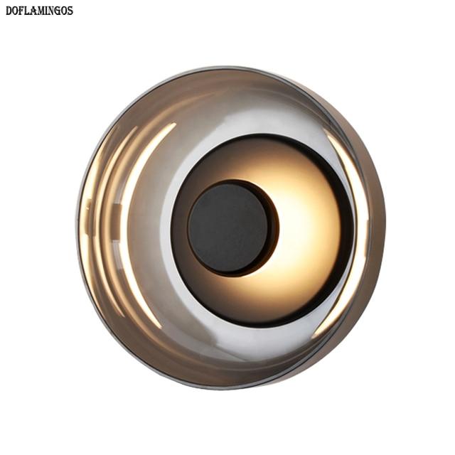 Modern aluminum art living room wall light luxury wall lamp Nordic creative bedroom hotel villa clubhouse LED lighting