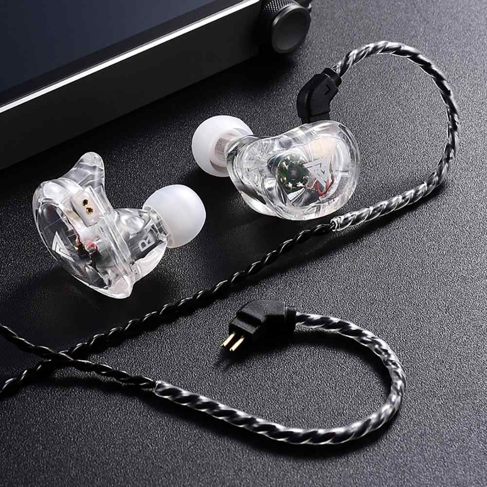 Baru Kedatangan Qkz VK1 HI FI Heavy Bass Kebisingan Membatalkan Stereo Dilepas Wired In-Ear Earphone