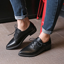 Women's Flats Oxfords Brand Design Lace-up Pointed Toe Espadrilles Moccasins Shoes for Women Chain Sapato Feminino Calzado Mujer