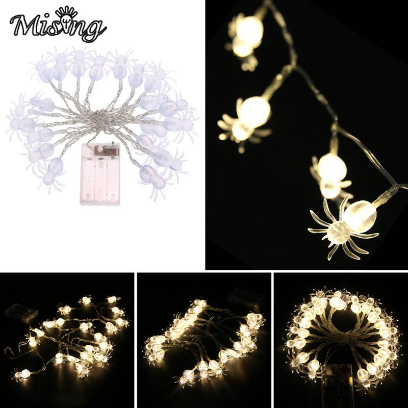 Mising 2M 20 LED 3*AA Battery Spider String Lights LED Fairy Lights Ourdoor Garden Decoration Lamp for Festival Christmas Party