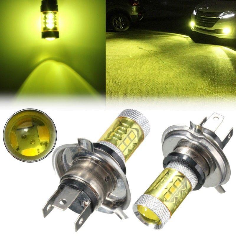 2Pcs Lot 9003 H4 LED Fog Light Samsung2323 Chip 80W 3000K YELLOW 6000K White Driving For