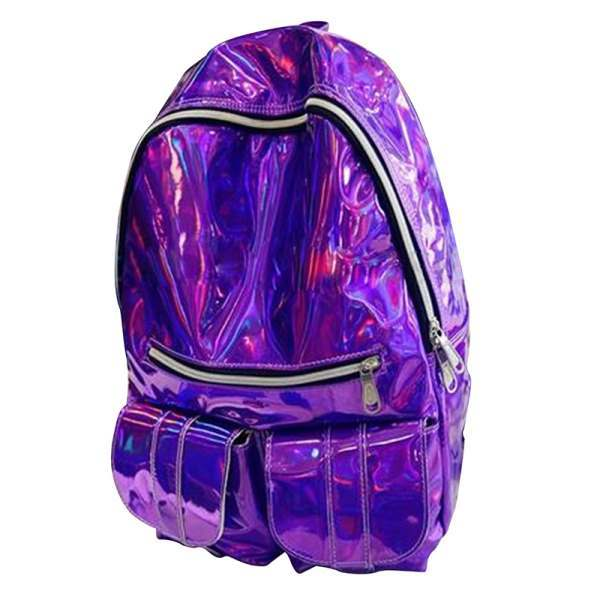 Silver / Gold / Purple Color Backpack For Women