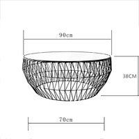 Северной Европы Гостиная Творческий Чай таблица Современный Простой закаленное Стекло Чай круглый стол металл черный интерьера