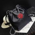 Bolsas de luxo Mulheres Sacos de Designer de Marca Famosa Saco Balde Bolsa de Ombro Bolsa Feminina Saco Do Vintage Preto PU de Couro Sacos Crossbody 8815