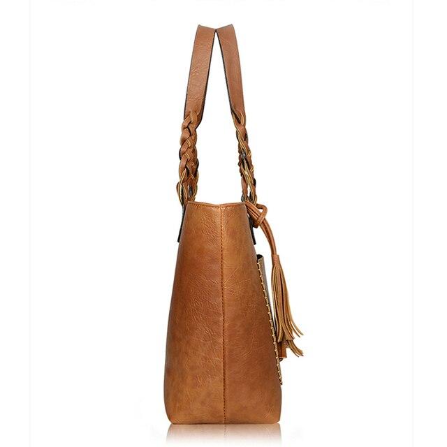 Women PU Leather Handbags Bolsos Mujer De Marca Famosa Female Vintage Bag For Women Shoulder Bag Retro Large Capacity Tote Bags