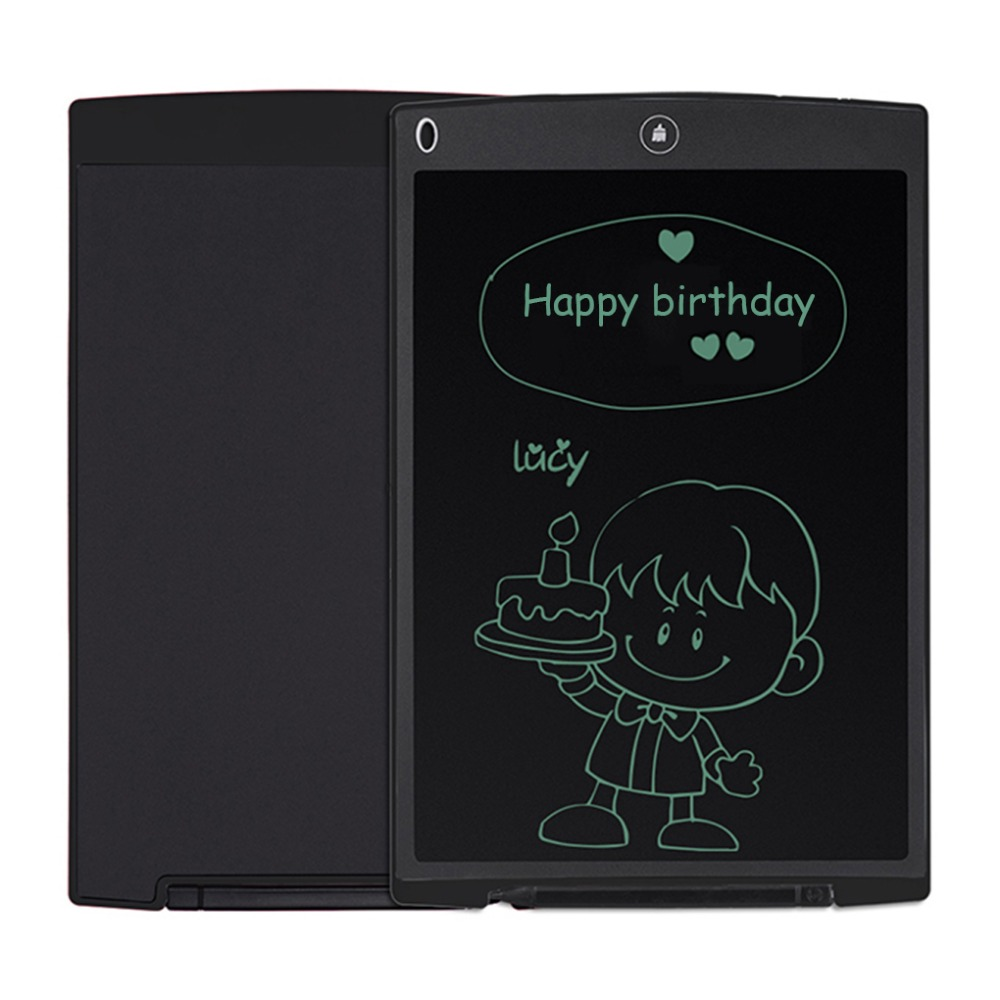 NEWYES Black 12 LCD Mini Writing Tablet Writing Board Can Be Used as Whiteboard eWriter Bulletin