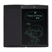 NEWYES Parblo Black 12 LCD Mini Writing Tablet Writing Board Can Be Used As Whiteboard Bulletin