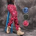Camo calças Para As Mulheres Casual Camuflagem Militar De Algodão Solto Calças de Multi-Bolsos Calças de Dança de Rua Para O Sexo Feminino