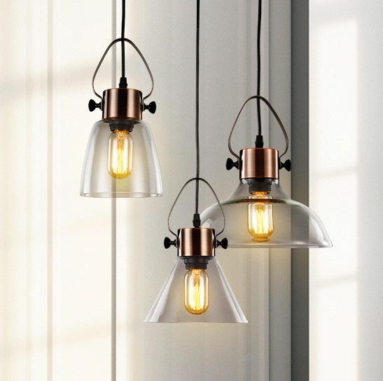 Loft Style Creative Glass Droplight Edison Vintage Pendant Light Fixtures For Dining Room Hanging Lamp Indoor Lighting Abaiur loft style iron vintage pendant light fixtures edison industrial droplight for dining room hanging lamp indoor lighting
