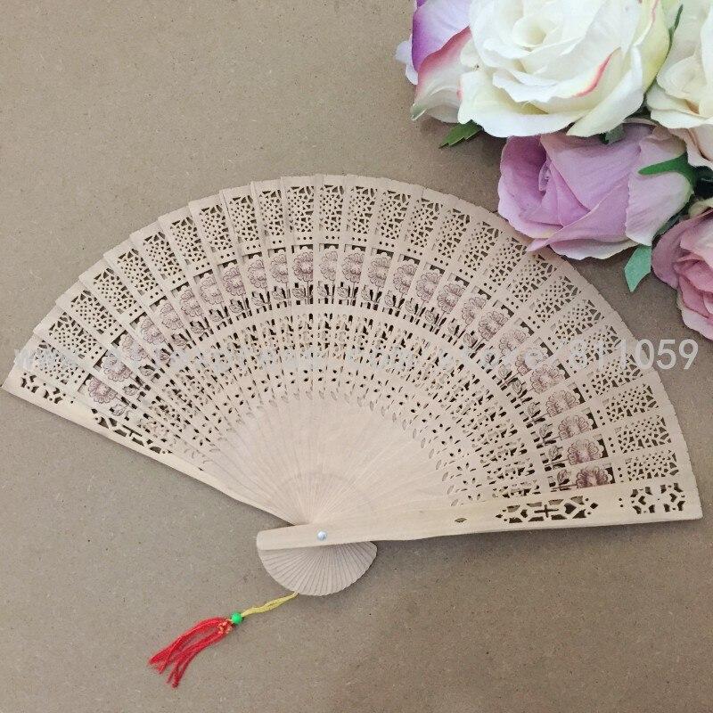 Envío gratis 50 unids / lote diseño de girasol ventilador de madera - Para fiestas y celebraciones - foto 5