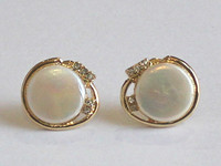 wholesle Beutiful fshion jewelry white fresh wter perl coin errings