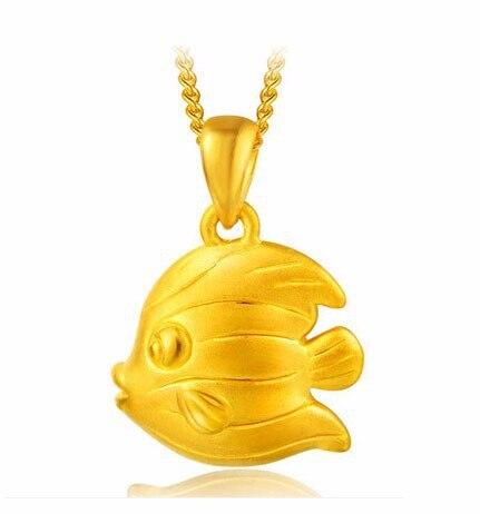 Autentica al 999 24 k Oro Giallo Pendente/3D Amore Ciondolo Pesce 1.24gAutentica al 999 24 k Oro Giallo Pendente/3D Amore Ciondolo Pesce 1.24g