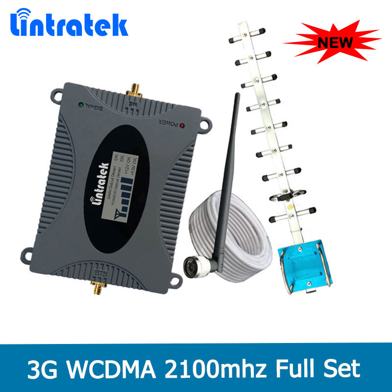 Lintratek 2018 3G Mobile Signal Repeater Booster Amplifier UMTS 2100MHz (Band 1) WCDMA Cell Phones 3G Yagi Antenna Set