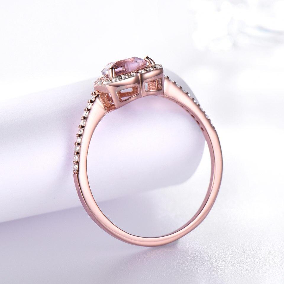UMCHO Simulate Pink Morganite Real Pure 925 ստերլինգ - Նուրբ զարդեր - Լուսանկար 3