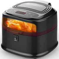 8L Commercial Electric Air Fryer Pan Domestic Intelligent No Oil Smokeless Low Noise French Fries Multifunctional