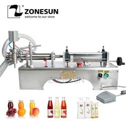 ZONESUN pistón neumático relleno líquido Champú Gel agua vino leche jugo vinagre café aceite bebida detergente máquina de llenado